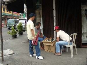 ...a chess game in Lucena City...