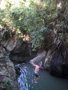 jumping at the waterfalls...nice...
